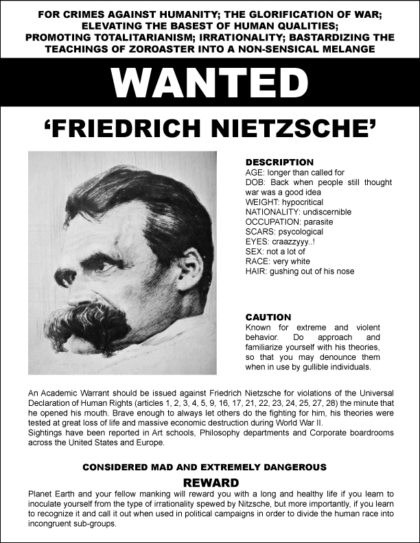 Major Douchbag: Friederich Nietzsche